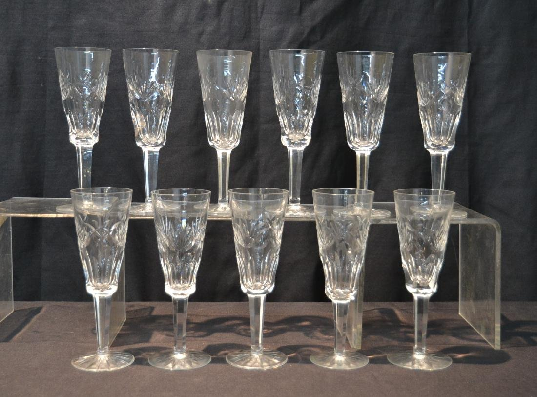 "(11) WATERFORD ""ASHLING"" PATTERN CHAMPAGNE FLUTES"
