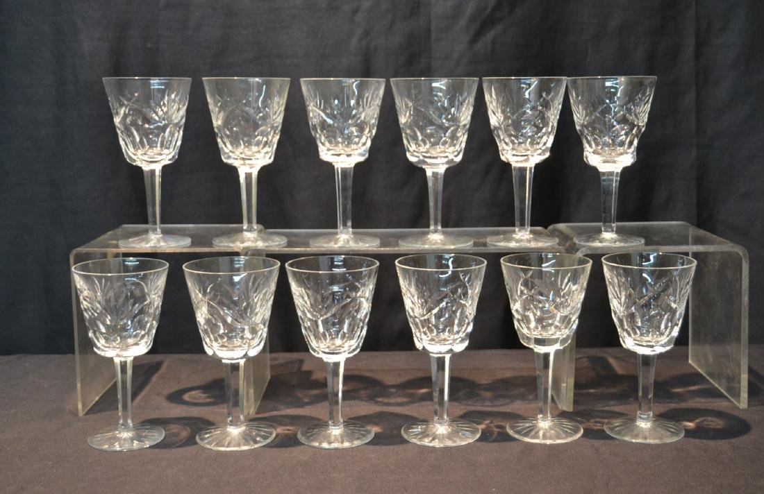 "(12) WATERFORD ""ASHLING"" PATTERN WINE GLASSES"