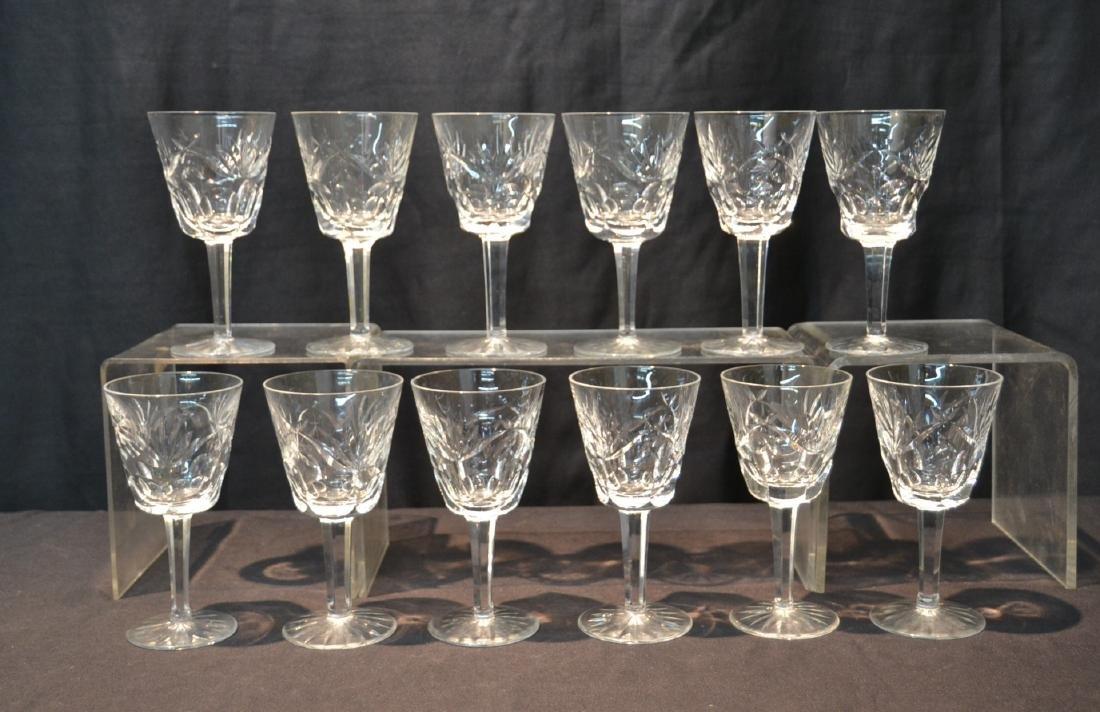 "(12) WATERFORD ""ASHLING"" PATTERN WINE GLASSES"