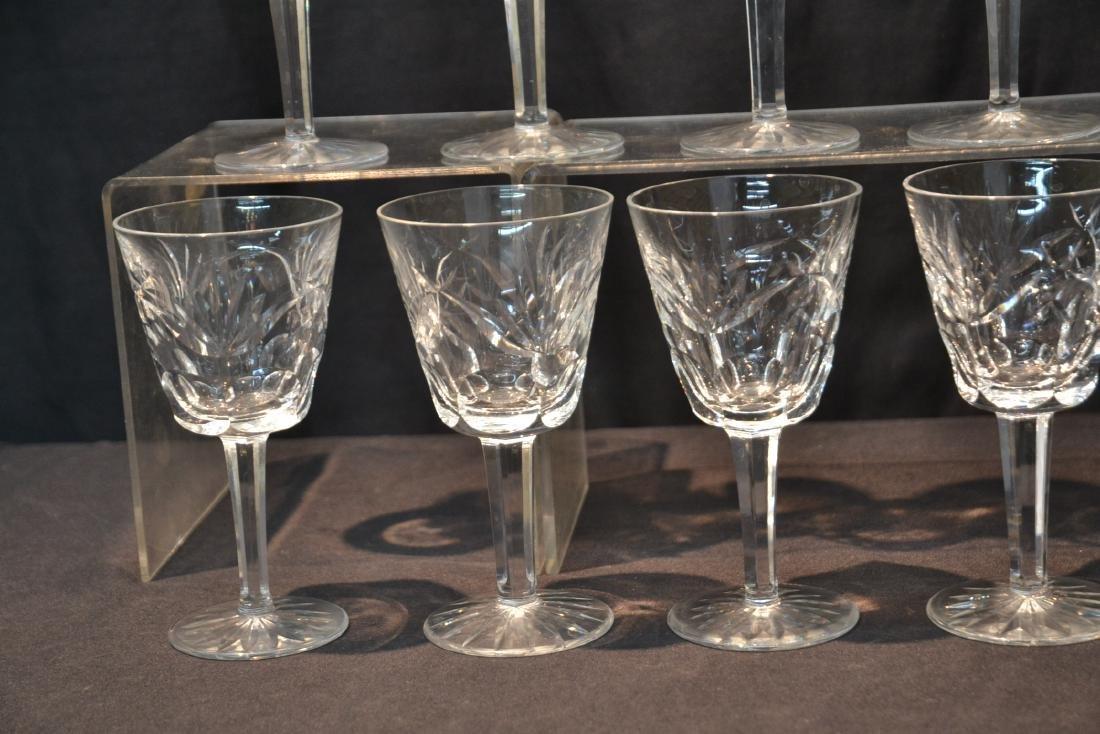 "(12) WATERFORD ""ASHLING"" PATTERN WINE GLASSES - 2"