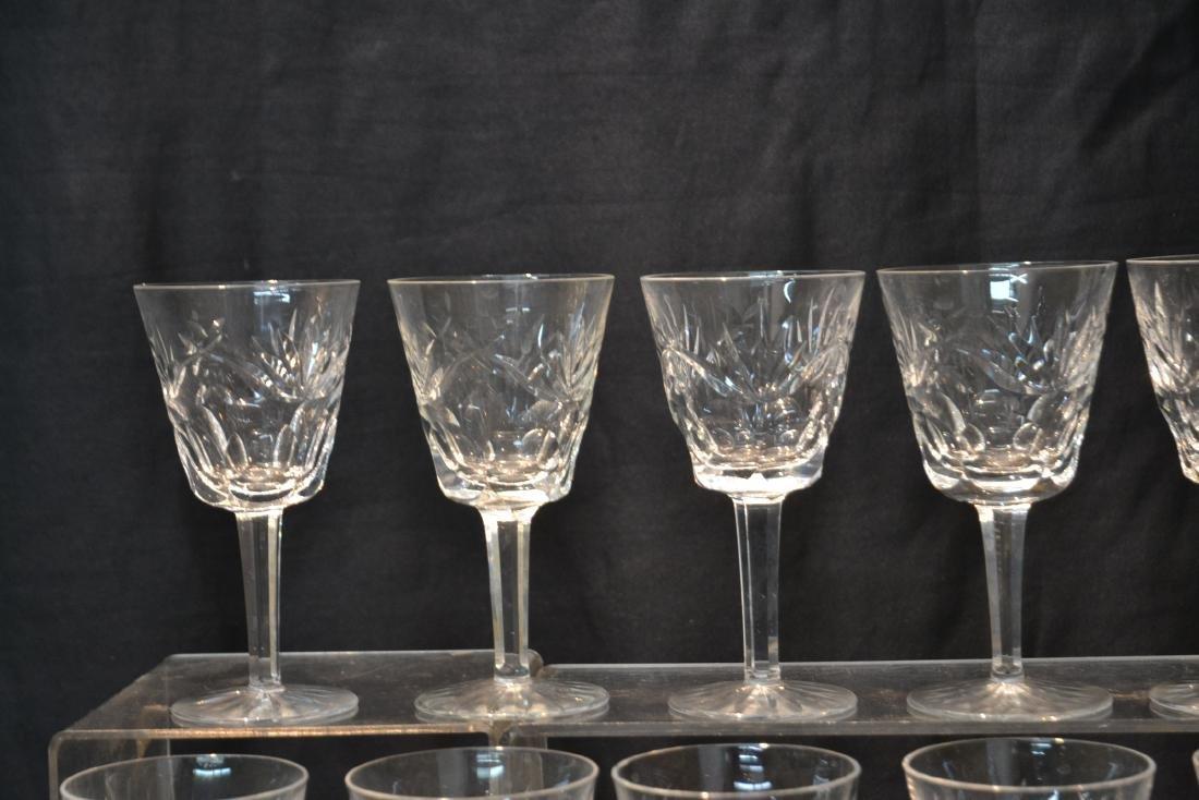 "(12) WATERFORD ""ASHLING"" PATTERN WINE GLASSES - 3"