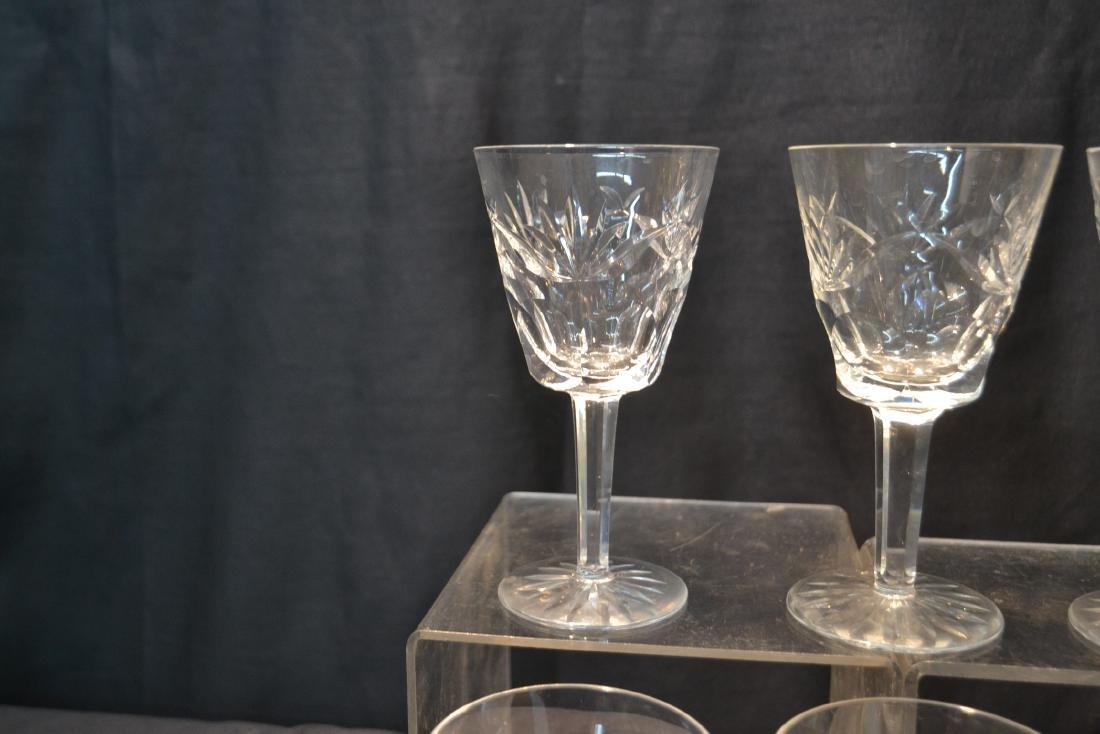 "(12) WATERFORD ""ASHLING"" PATTERN WINE GLASSES - 6"