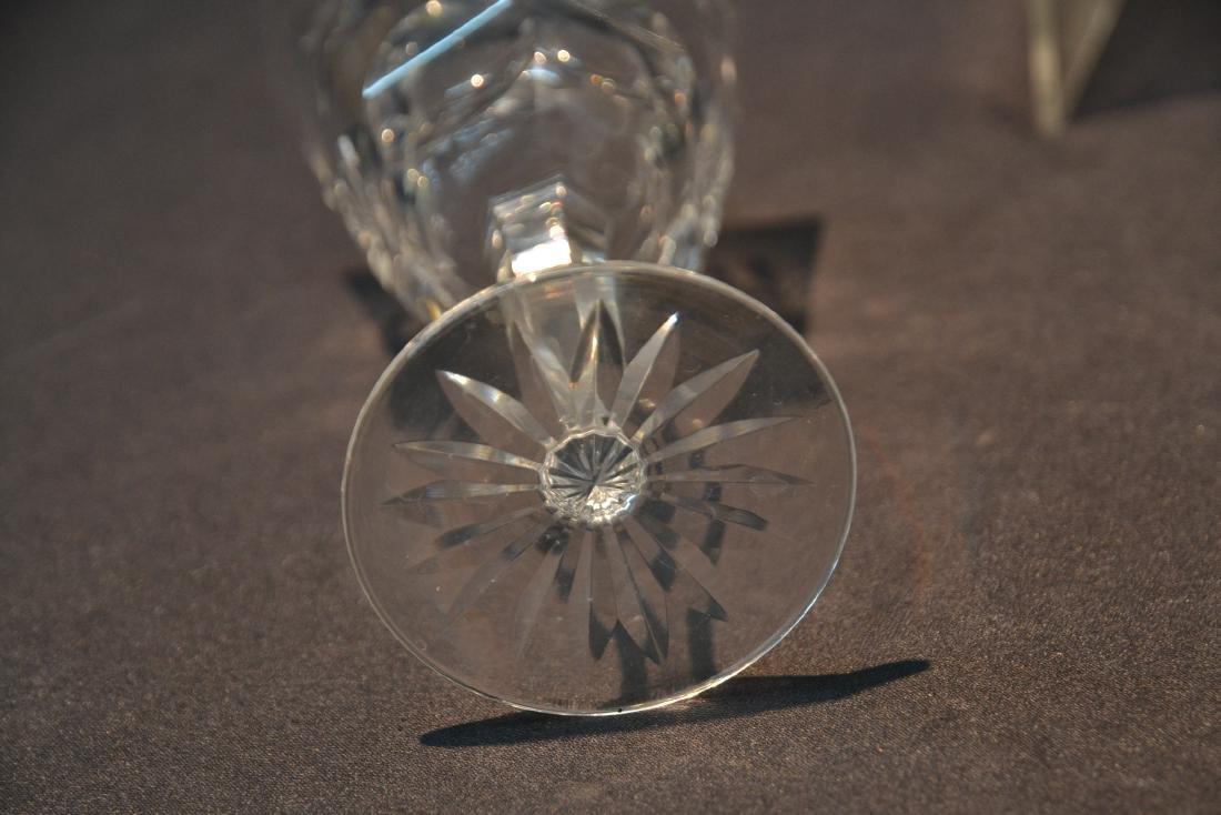 "(12) WATERFORD ""ASHLING"" PATTERN WINE GLASSES - 7"