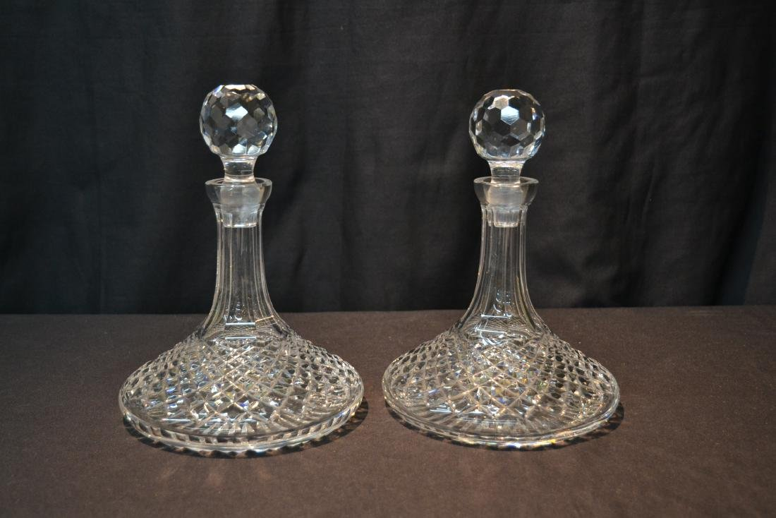 "(Pr) WATERFORD ""ALANA"" PATTERN SHIPS DECANTERS - 10"