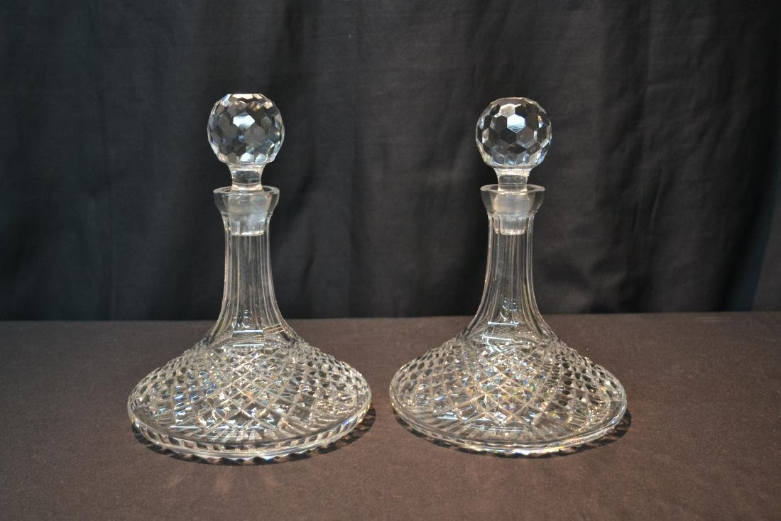"(Pr) WATERFORD ""ALANA"" PATTERN SHIPS DECANTERS - 9"