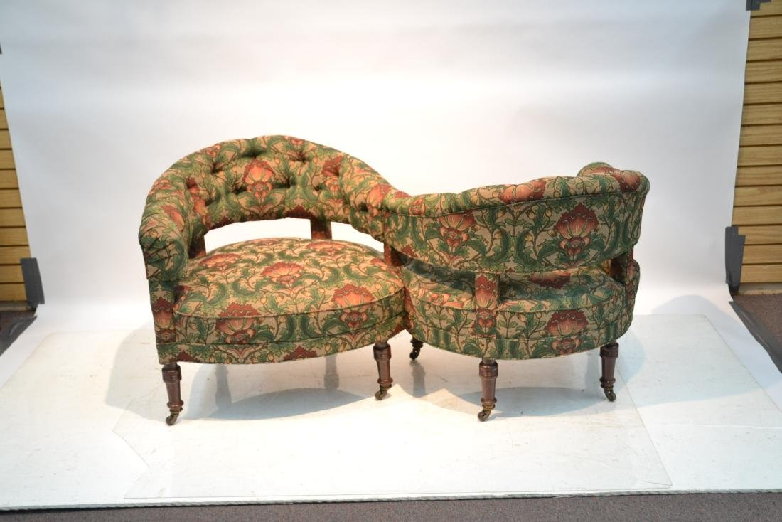 FLORAL UPHOLSTERED TETE A TETE - 2