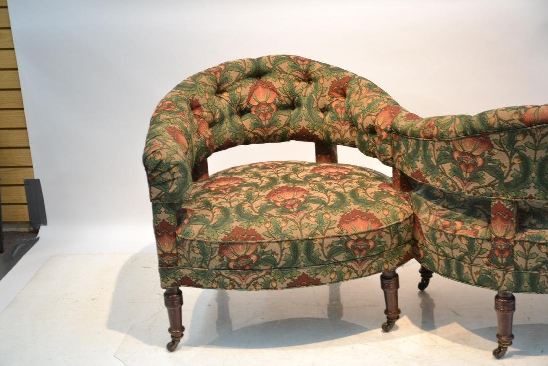 FLORAL UPHOLSTERED TETE A TETE - 3