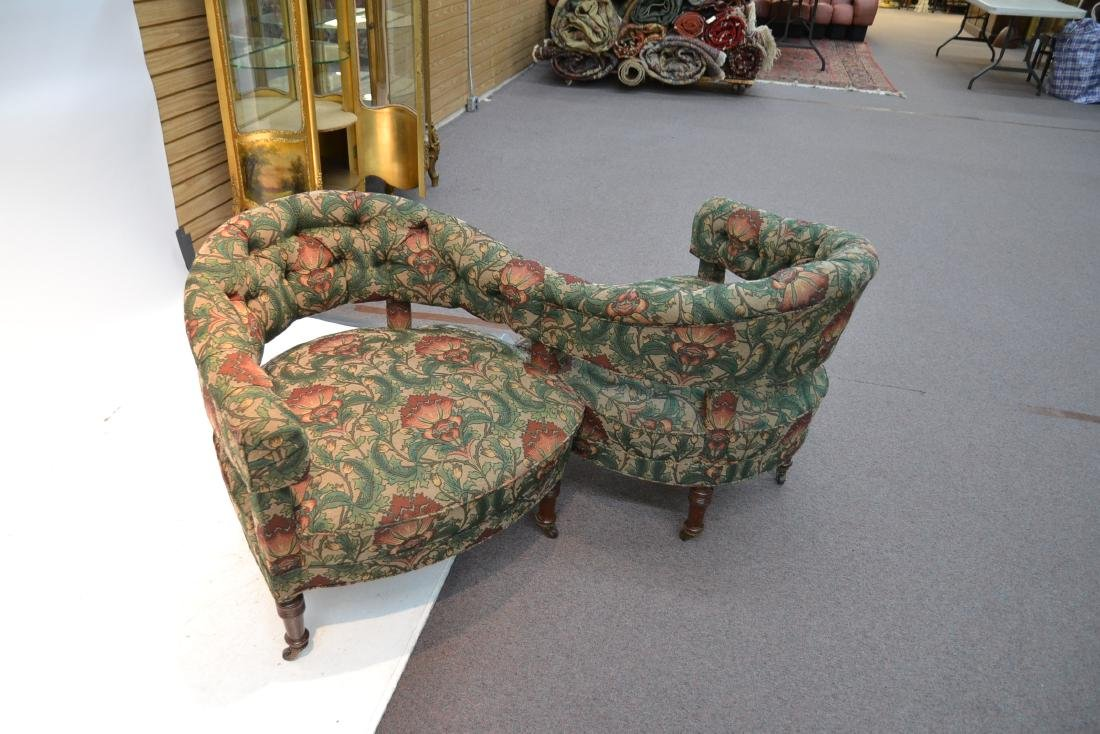 FLORAL UPHOLSTERED TETE A TETE - 5