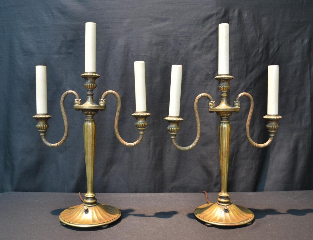 (Pr) TIFFANY STUDIO NEW YORK BRONZE CANDELABRA