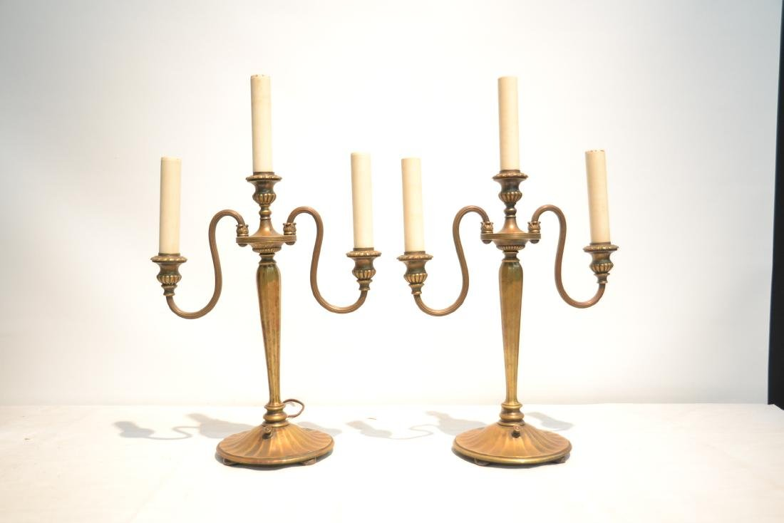 (Pr) TIFFANY STUDIO NEW YORK BRONZE CANDELABRA - 3
