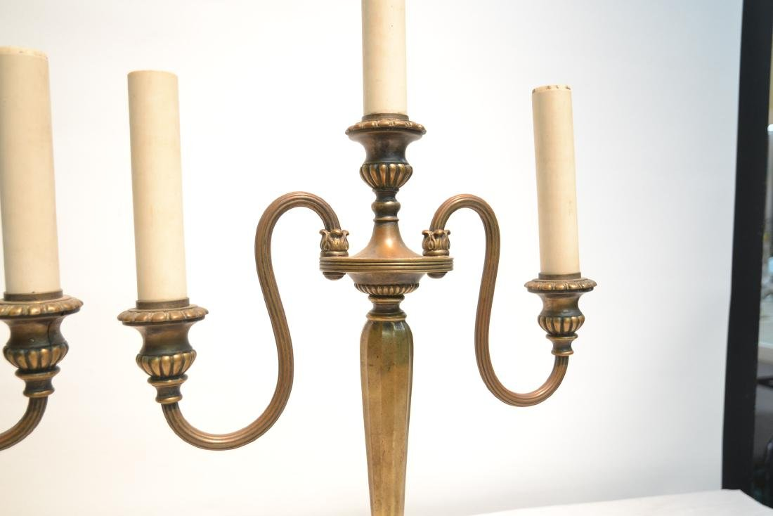 (Pr) TIFFANY STUDIO NEW YORK BRONZE CANDELABRA - 5