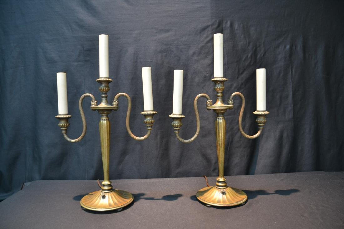 (Pr) TIFFANY STUDIO NEW YORK BRONZE CANDELABRA - 9