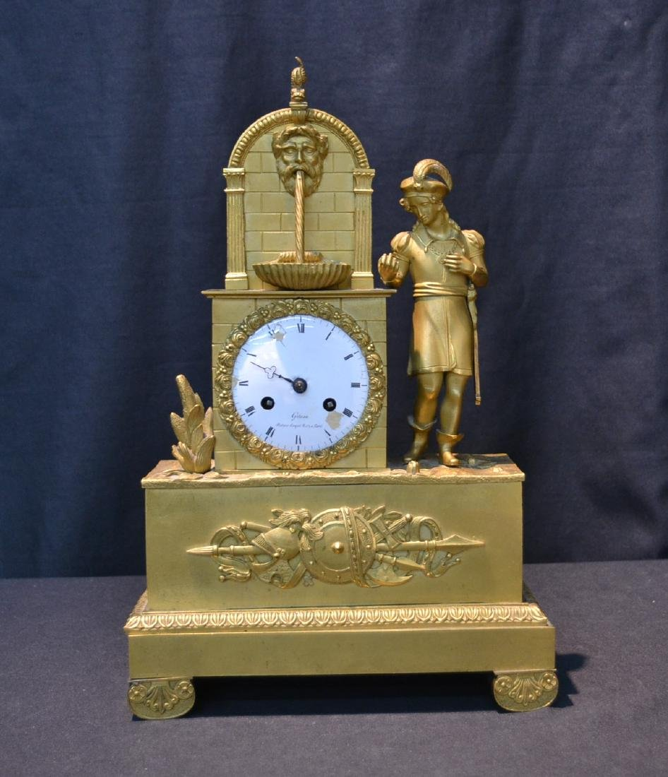DORE BRONZE FRENCH EMPIRE CLOCK