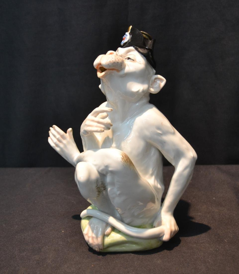 DRESDEN PORCELAIN MONKEY BOTTLE