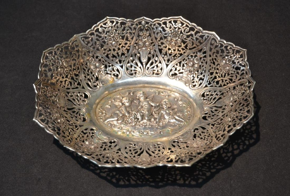 800 SILVER RETICULATED BOWL WITH