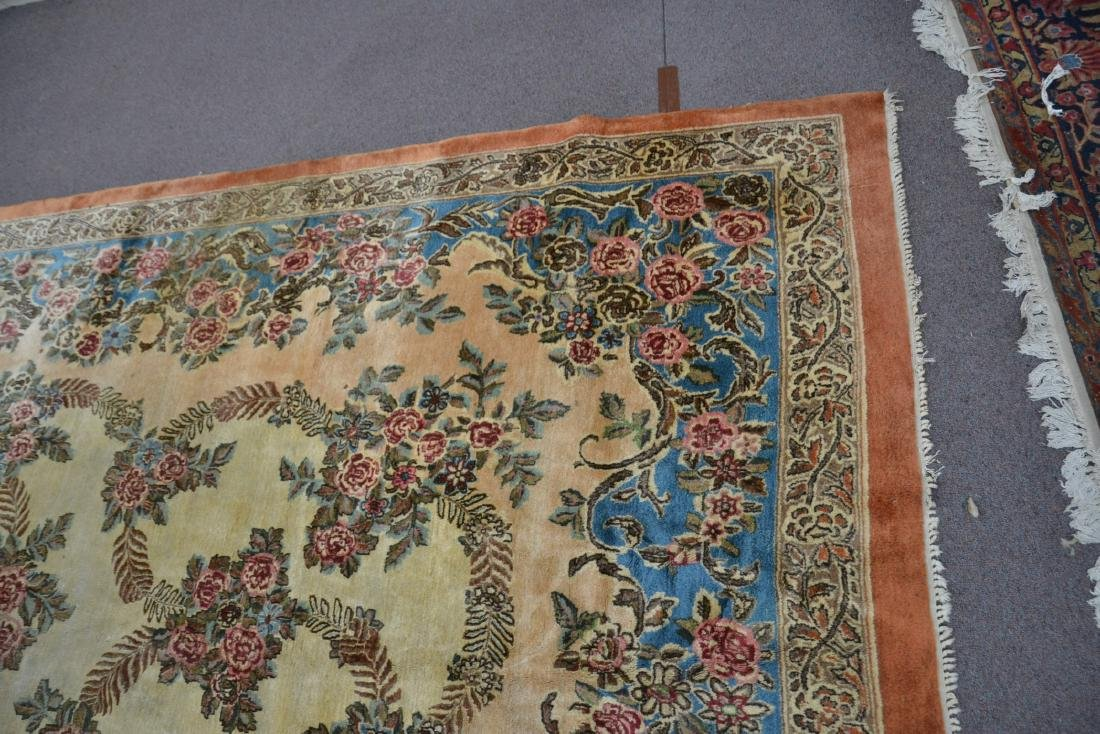 """11' 11"""" x 17' KERMAN RUG WITH FLORAL DECORATIONS - 3"""