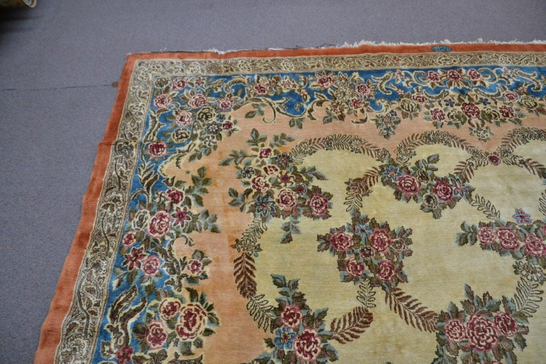 """11' 11"""" x 17' KERMAN RUG WITH FLORAL DECORATIONS - 5"""