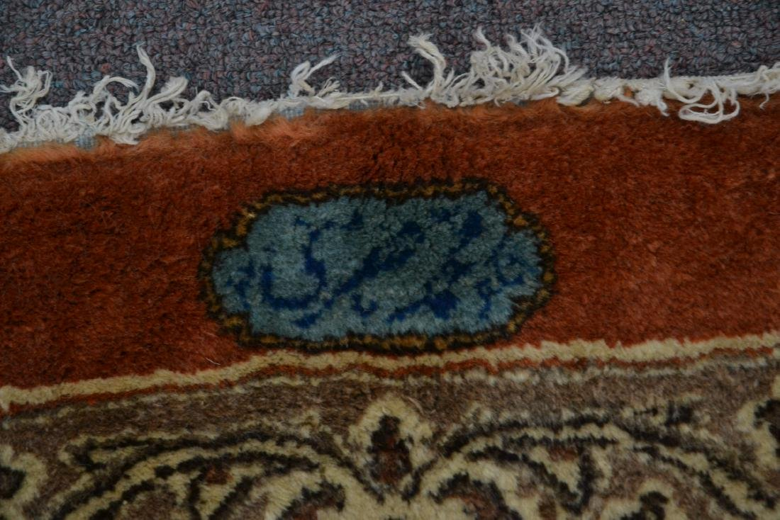 """11' 11"""" x 17' KERMAN RUG WITH FLORAL DECORATIONS - 7"""