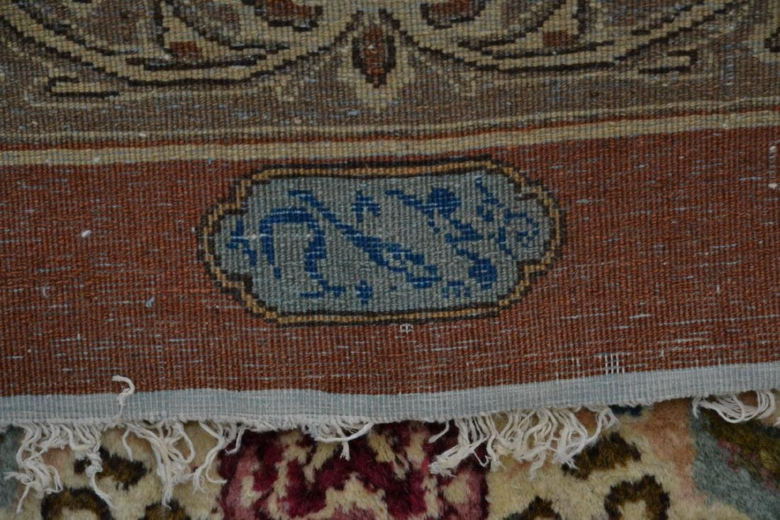 """11' 11"""" x 17' KERMAN RUG WITH FLORAL DECORATIONS - 8"""
