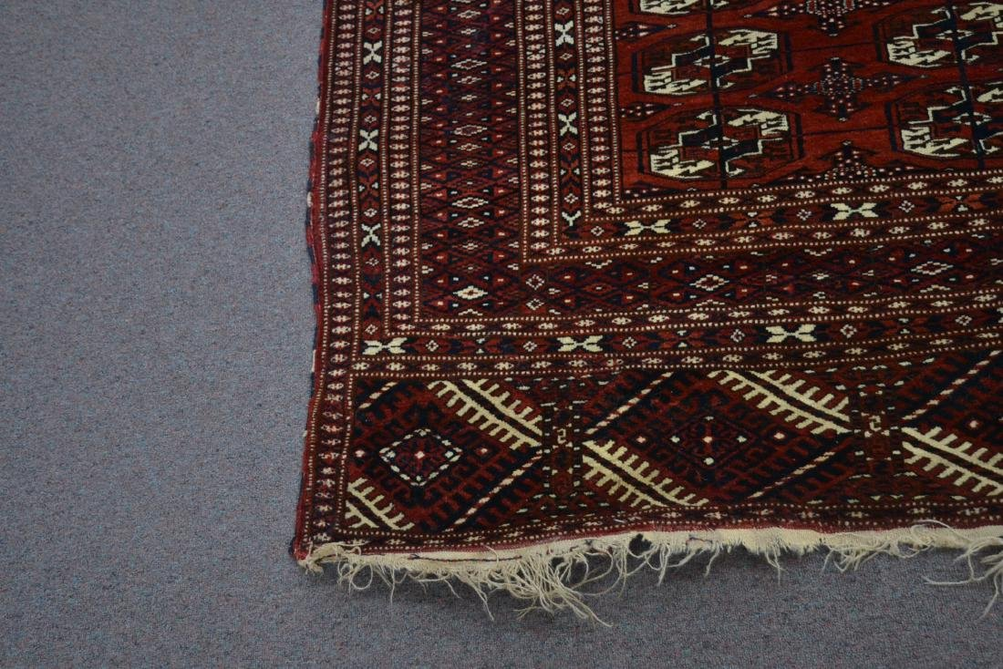 "6' 11"" x 11' RED PERSIAN BOKHARA RUG - 10"