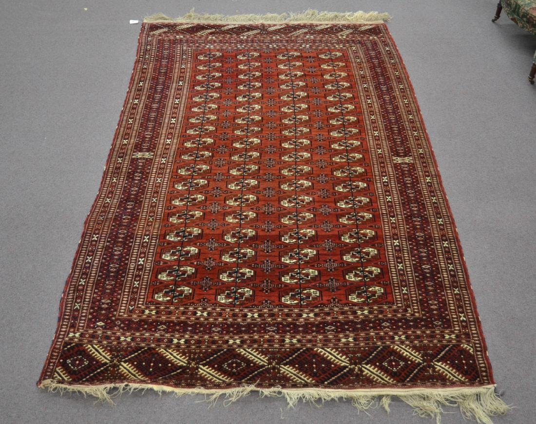 "6' 11"" x 11' RED PERSIAN BOKHARA RUG"