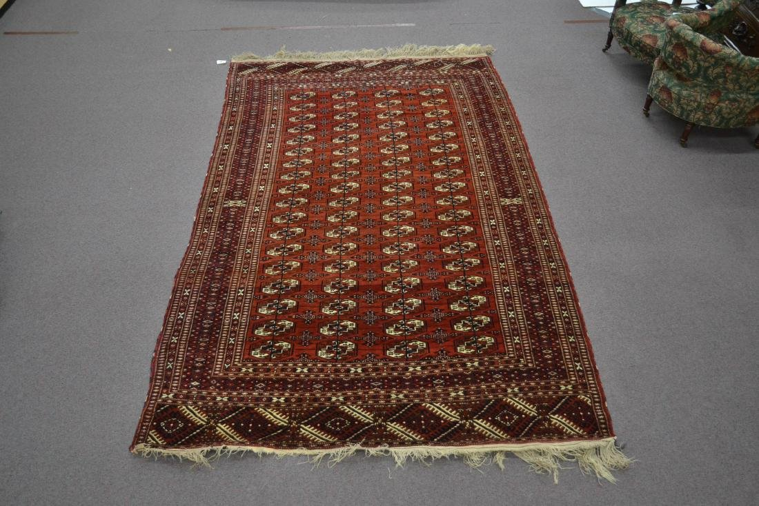 "6' 11"" x 11' RED PERSIAN BOKHARA RUG - 2"