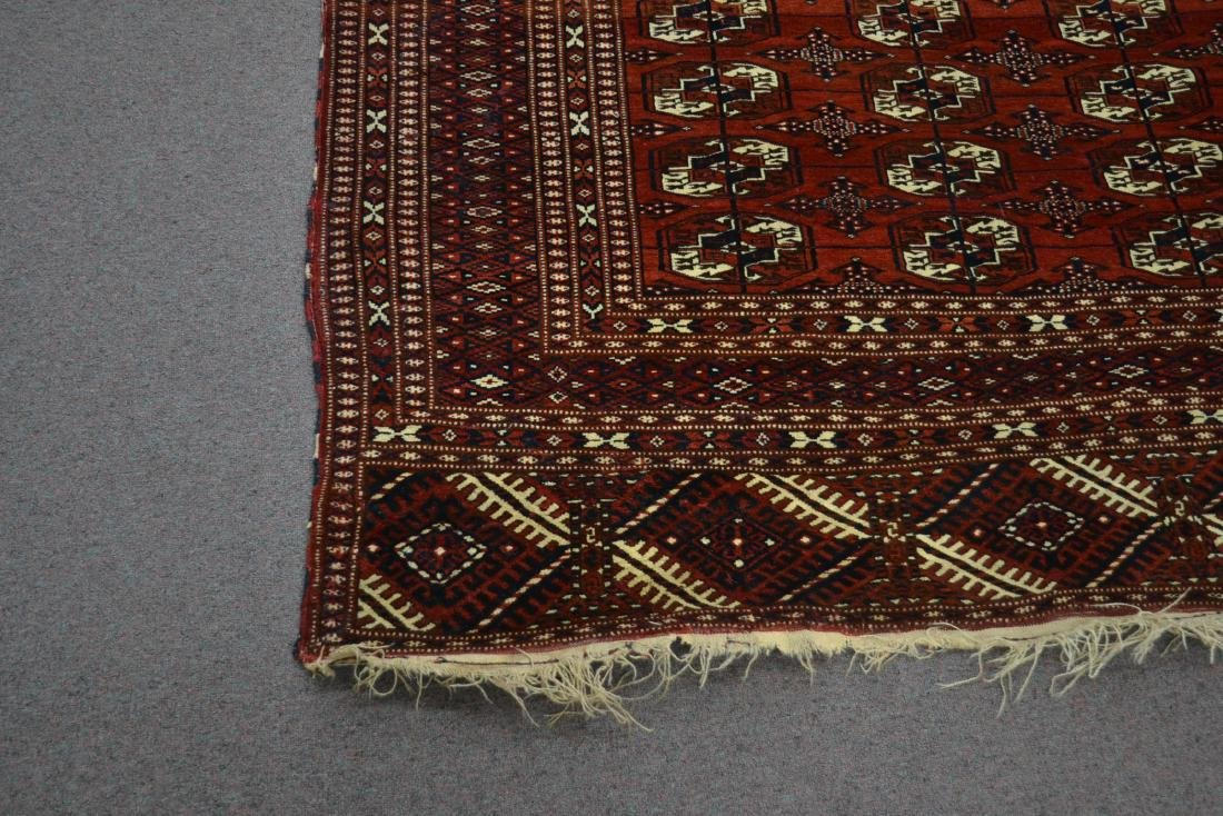 "6' 11"" x 11' RED PERSIAN BOKHARA RUG - 3"