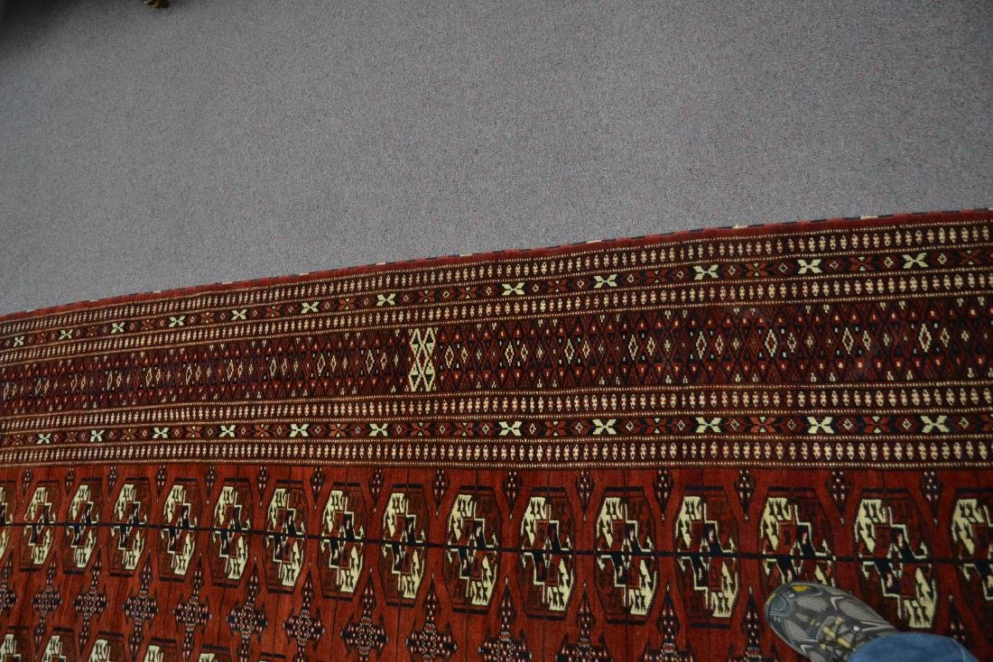 "6' 11"" x 11' RED PERSIAN BOKHARA RUG - 6"