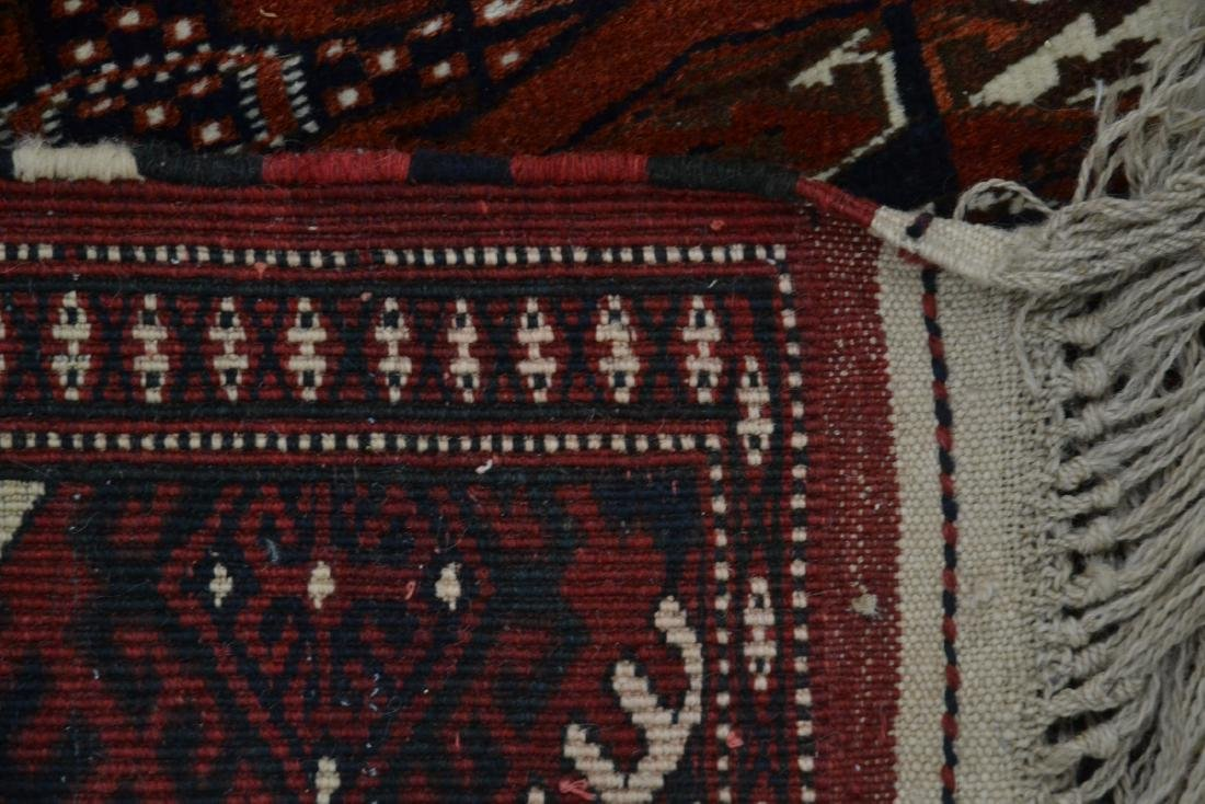 "6' 11"" x 11' RED PERSIAN BOKHARA RUG - 9"