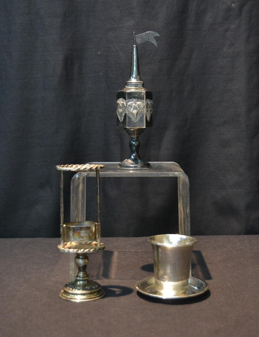 (3)pc JUDAICA SILVER TO INCLUDE SPICE TOWER ,