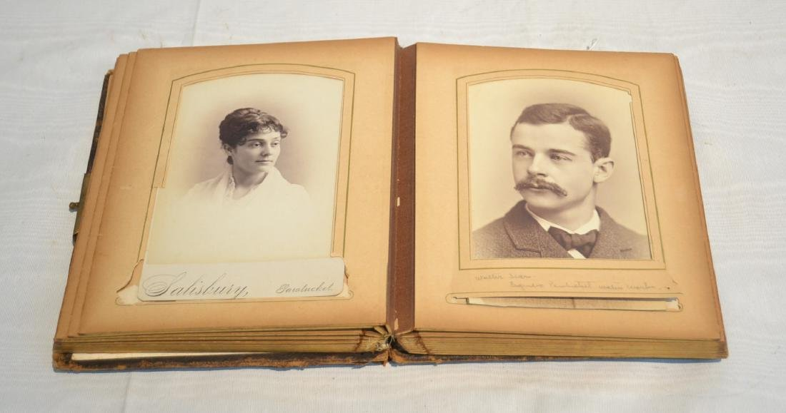 19thC FOLIO BOOK OF CABINET CARDS WITH