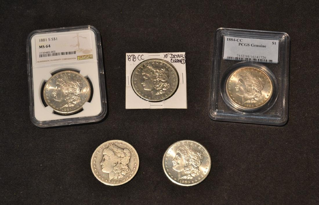 (4) CARSON CITY SILVER DOLLARS - TO INCLUDE