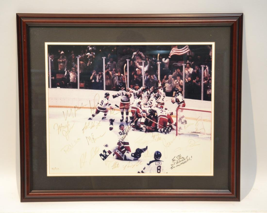 """1980 USA OLYMPIC GOLD MEDAL TEAM """"MIRACLE ON ICE"""""""