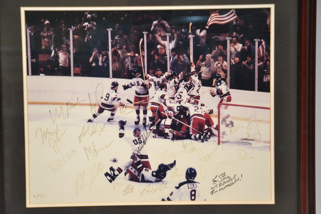 "1980 USA OLYMPIC GOLD MEDAL TEAM ""MIRACLE ON ICE"" - 2"