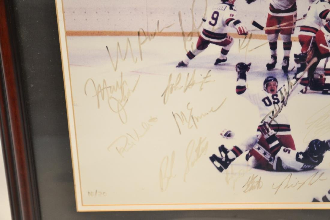 """1980 USA OLYMPIC GOLD MEDAL TEAM """"MIRACLE ON ICE"""" - 6"""
