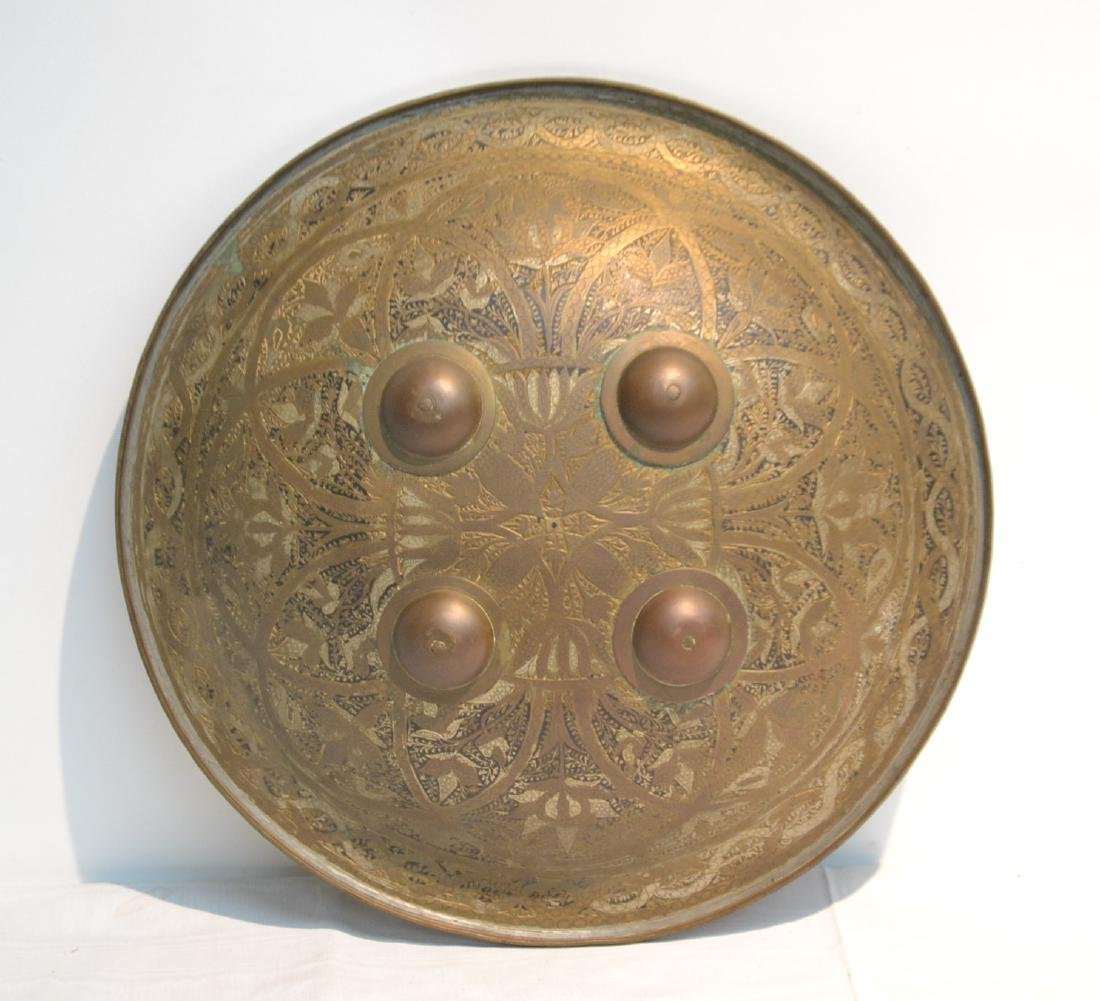 MIDDLE EASTERN BRASS & STEEL SHIELD WITH