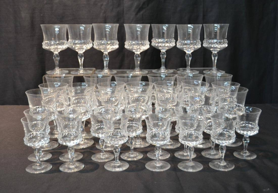 (41)pc CRYSTAL STEMWARE IN (3) SIZES