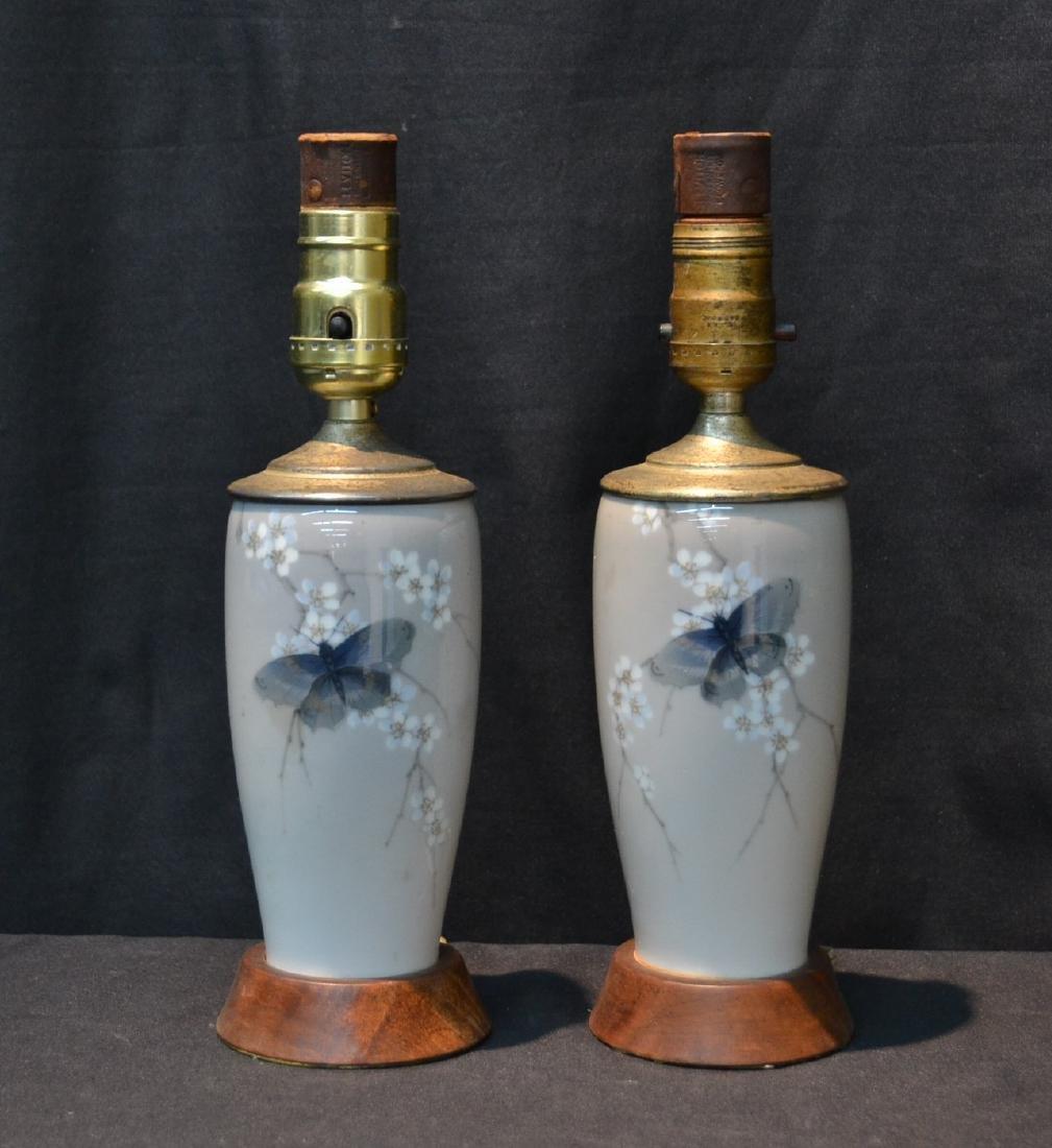 (Pr) ROYAL COPENHAGEN BOUDOIR LAMPS WITH