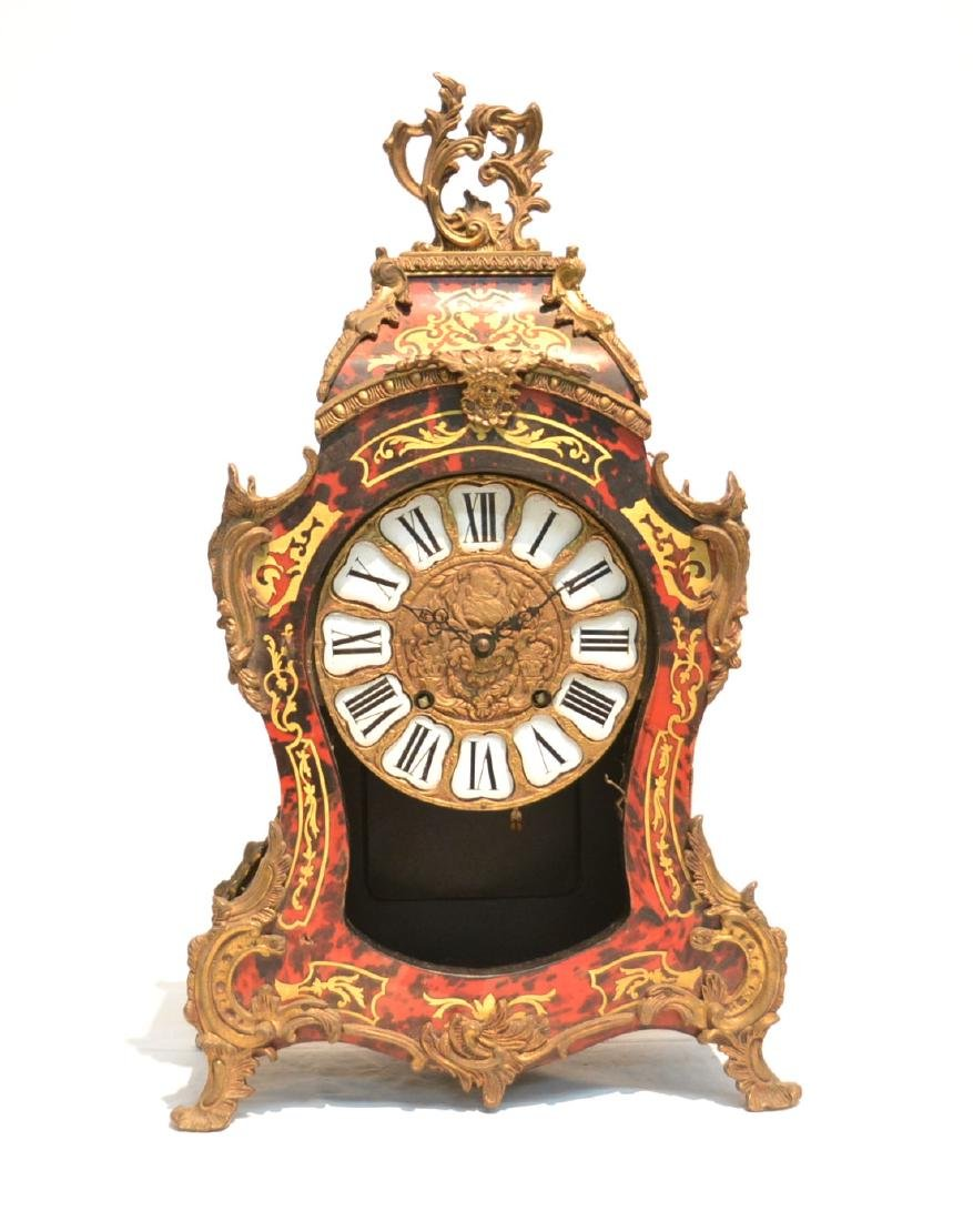 FRENCH BRONZE BOULLE STYLE MANTLE CLOCK