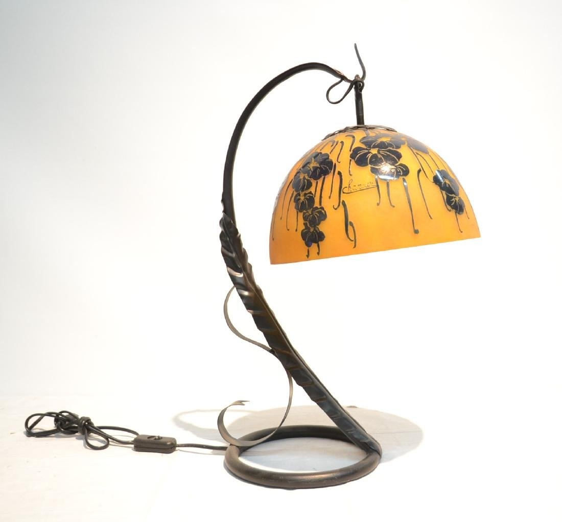 CONTEMPORARY CHARDER CAMEO GLASS LAMP