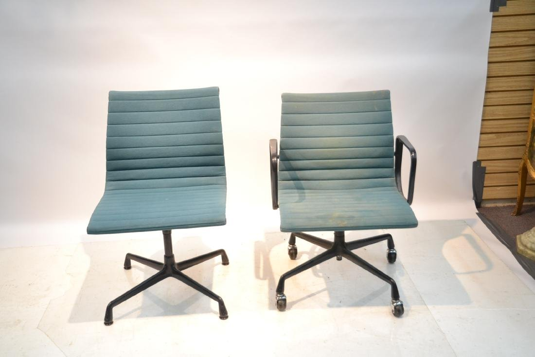 (2) EAMES FOR HERMAN MILLER ALUMINUM GROUP CHAIRS - 2