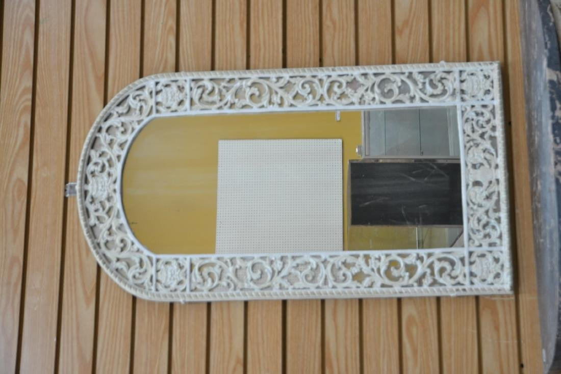 PAINT DECORATED IRON MARBLE TOP CONSOLE & - 8