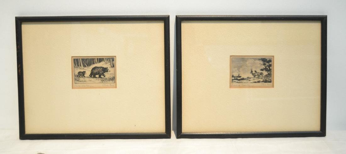 (2) OLIVE FELL (AMERICAN, 1896-1980) ETCHINGS