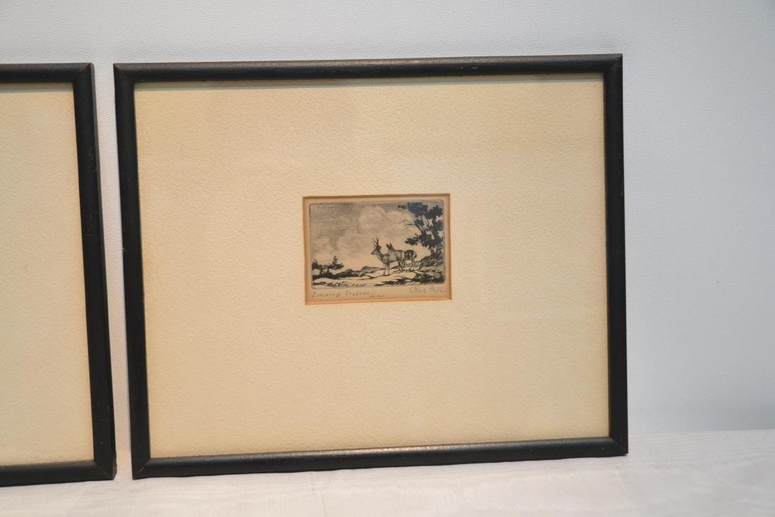 (2) OLIVE FELL (AMERICAN, 1896-1980) ETCHINGS - 2