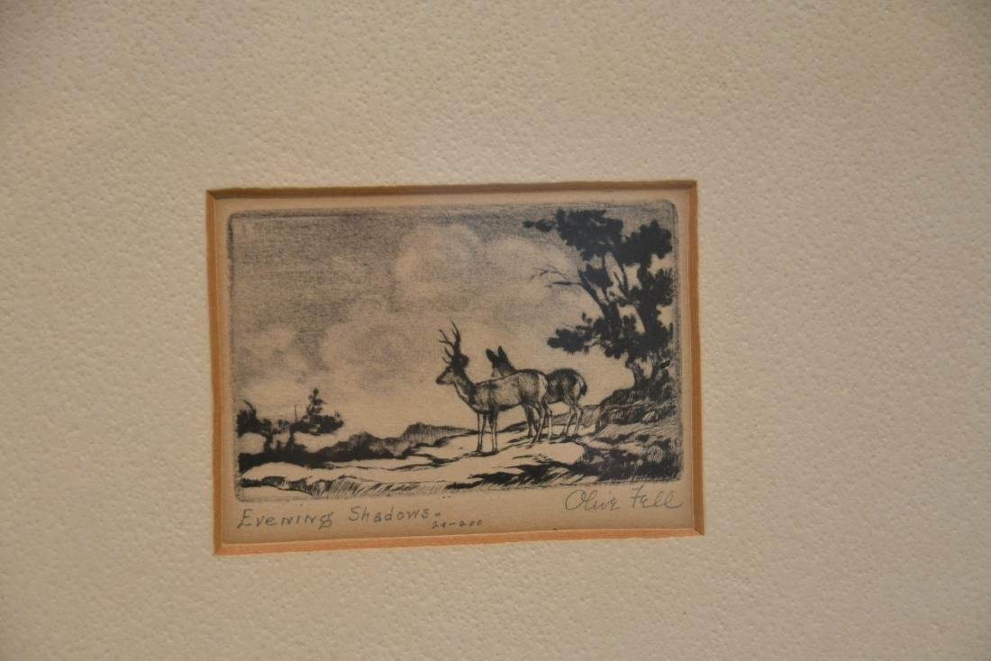 (2) OLIVE FELL (AMERICAN, 1896-1980) ETCHINGS - 3