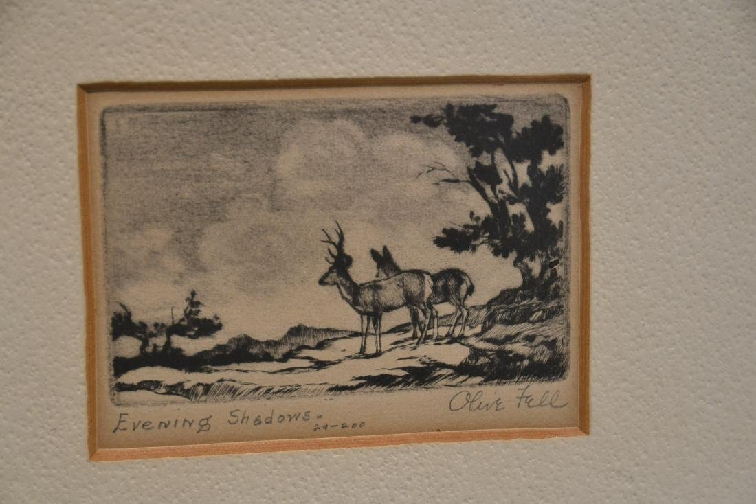 (2) OLIVE FELL (AMERICAN, 1896-1980) ETCHINGS - 6