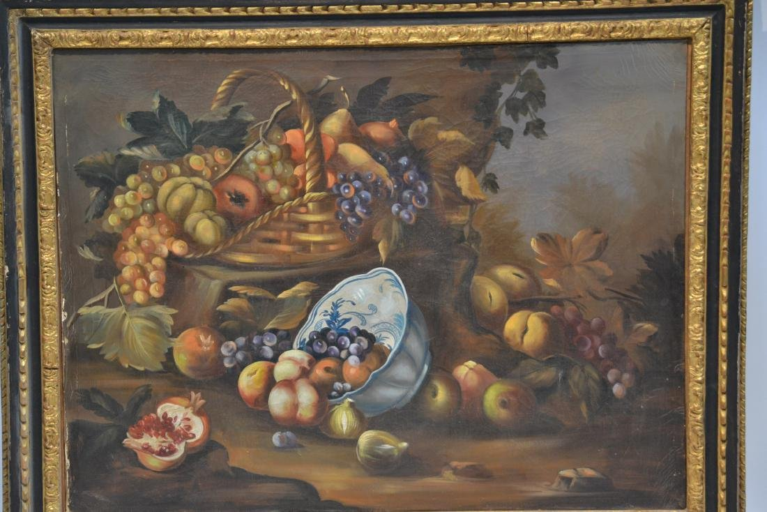 OIL ON CANVAS FLORAL STILL LIFE - 3