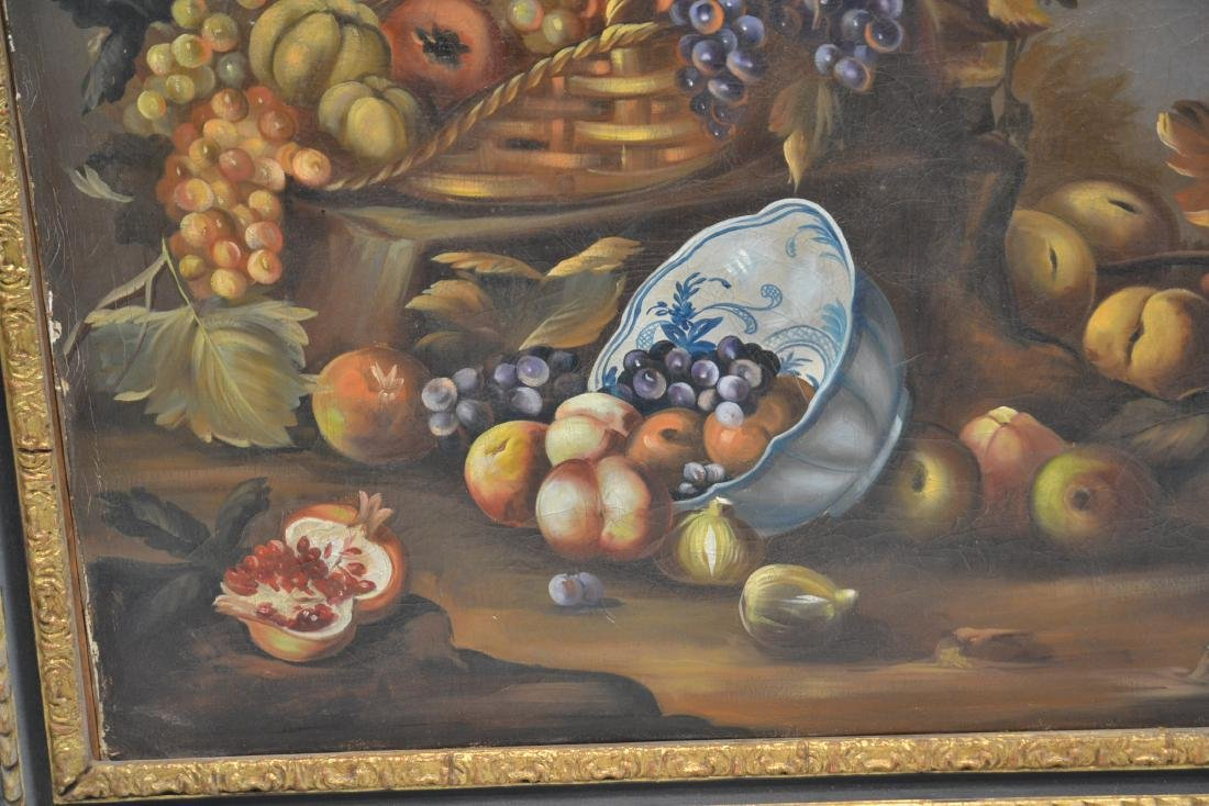 OIL ON CANVAS FLORAL STILL LIFE - 5