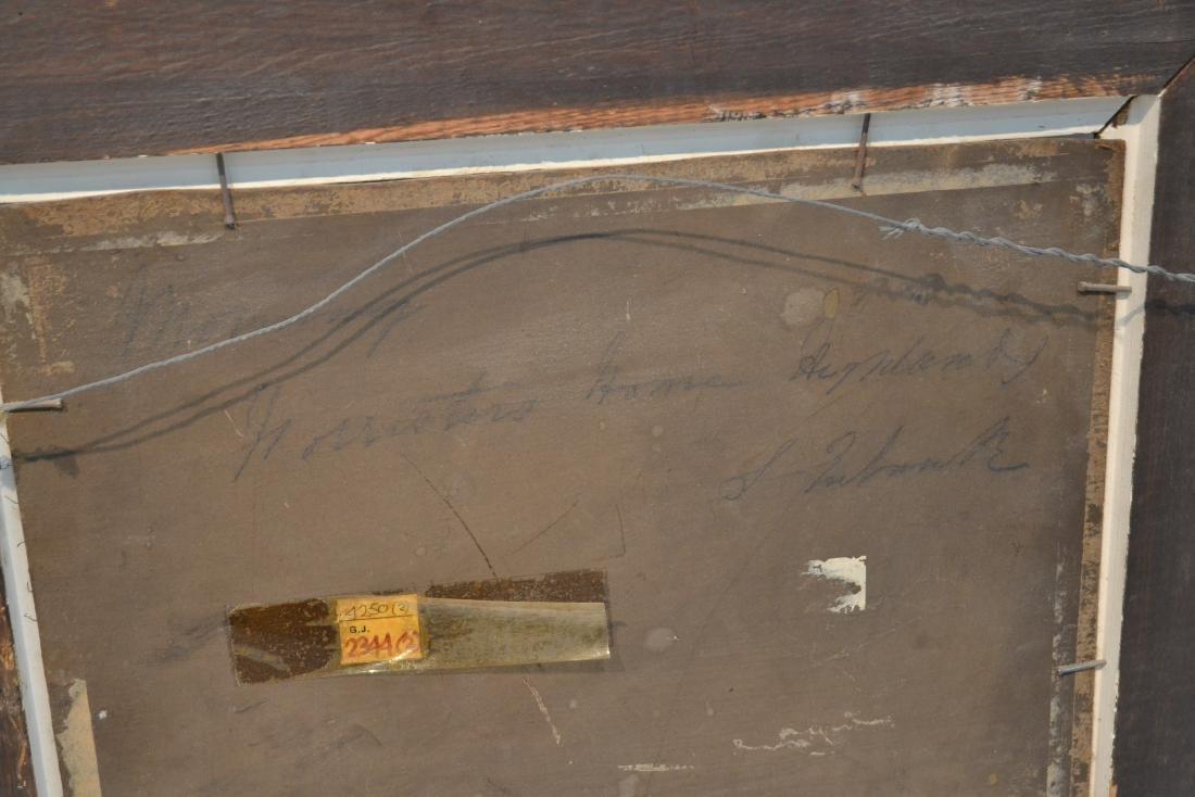 (Pr) OIL ON BOARD LAKE LANDSCAPE - 10