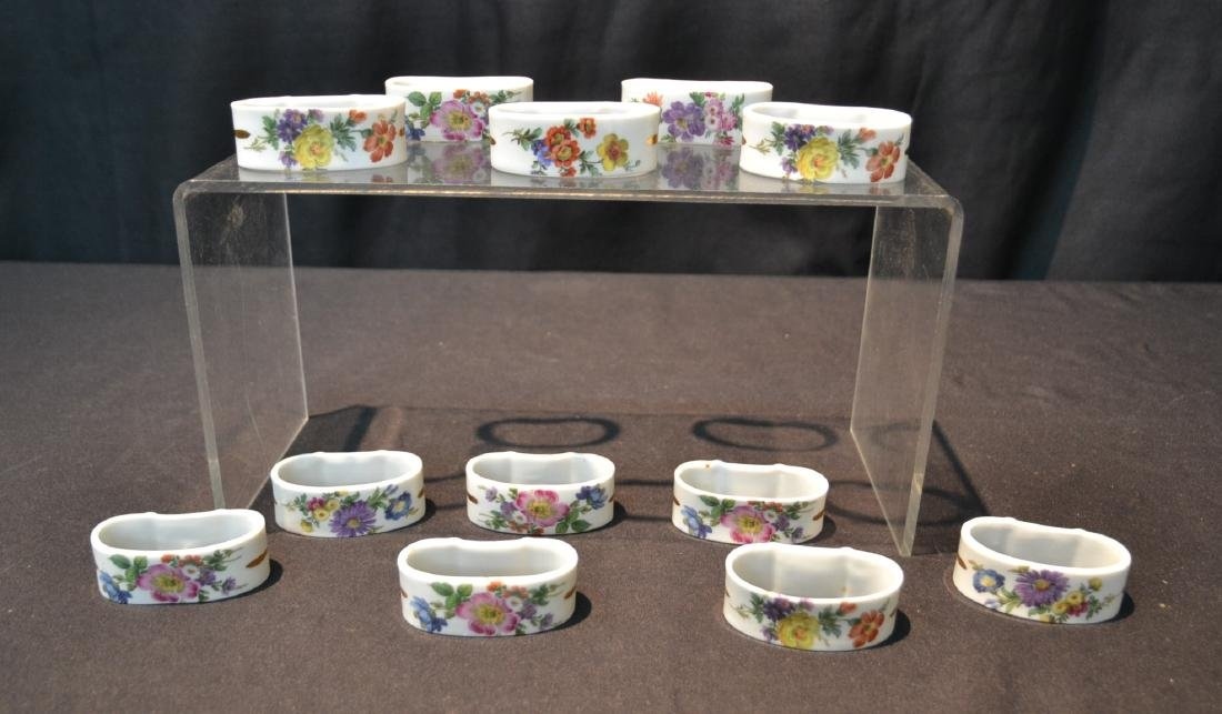 (12) HAMMERSLEY ENGLISH BONE CHINA NAPKIN RINGS